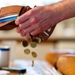 Вытрушивание денег из кошелька